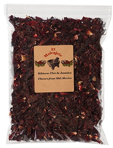 Hibiscus Flower dried Flor de Jamaica 8 oz From El Molcajete