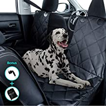 Kululu Dog Car Seat Cover for Back Seat - The Only Pet Seat Cover with Mesh Window for Stress Free Travel so You can See Each Other - Backseat Hammock Cover Protector for Cars-Patented (X-Large Size)