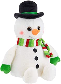 Bearington Big Snowball Plush Holiday Snowman Stuffed Animal, 12 inches