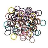 80 elastische Haargummis. Winzige, weiche Gummibänder, Pferdeschwanz-Halter, Mädchen-Haargummi für Babys, Kinder, mehrfarbig