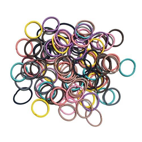 Lot de 80 élastiques à cheveux pour queue de cheval - Pour bébé et enfant - Multicolore