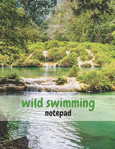 Wild Swimming Notepad: 8.5in x 11in Large Lined Pad