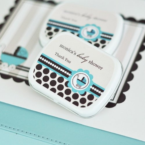 Personalized Mint Tins - Blue Baby - Total 24 items