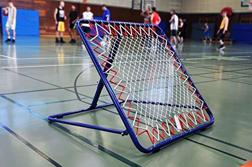 POWERSHOT Rebounder Tchouckball/Fussball EINSEITIG oder DOPPELSEITIG- 100 x 100cm - Fussball Trainingszubehör (Rebounder Tchouckball/Fussball 100 x 100cm - EINSEITIG - verstellbar)