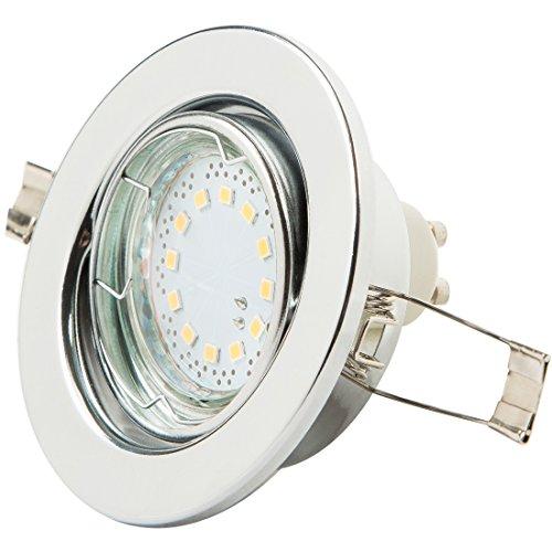 Levivo Deckenstrahler 1-flammig, Einbaustrahler LED, warmweiß, mit 12 SMD LEDs, Deckenstrahler anschließbar ohne Trafo – Helligkeit 250 lm, energiesparender LED-Strahler für Deckeneinbau