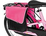 Puky DT 3 - Bolsa doble para bicicleta infantil, color rosa y negro