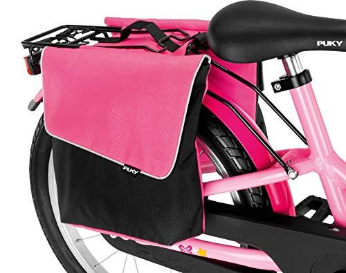 Puky DT 3 Kinder Fahrrad GepÀcktrÀgertasche/Doppeltasche pink/schwarz
