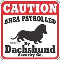 SIGNSUP (サインズアップ) 英語版 猛犬注意 ・犬がいますの看板 サインボード:ダックスフンド [並行輸入品]