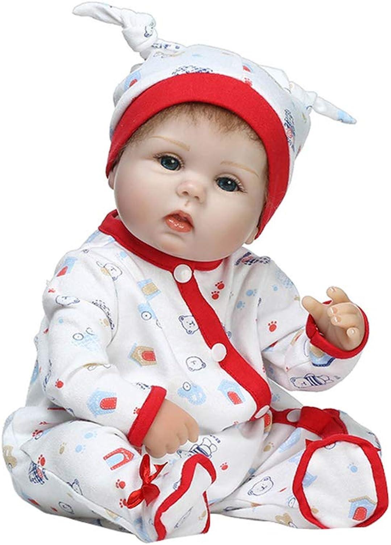 Junlinto, Soft-Silicon-Simulationspuppen geboren Lebensecht reizendes Baby spielt frühe Kindheit