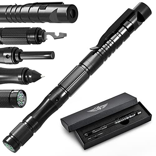 BIIB Geschenke für Männer, Taktischer Stift mit Kompass Gadgets für Männer, 2021 Vatertagsgeschenk, Geburtstagsgeschenk, Coole Werkzeug Kleine Geschenke für Papa, Opa, Frauen, Männer, Geschenke