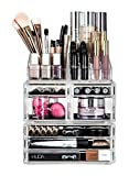 Fineway 7 Drawer <span class='highlight'>Makeup</span> Jewellery Acrylic Cosmetic Display Storage Organiser Holder Box <span class='highlight'>With</span> Top Tray - Table top Dressing Table Storage – Multi Compartment
