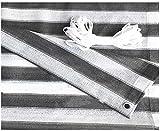 YZJL Valla de privacidad Biombo Cubierta de Polietileno de Alta Densidad 180GSM del Viento y la protección UV Balcones y Vallas Decorativas Decoracion Jardin (Color : Gray White, Size : 1.2x6m)