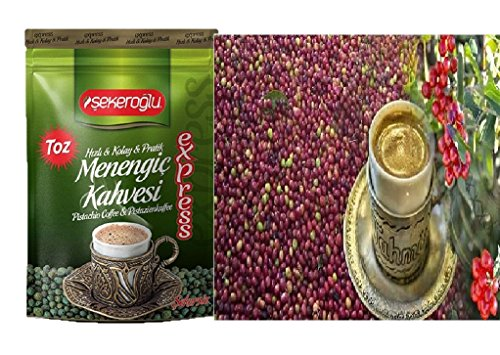Ablamshop/Türkischer Kaffee Menengic Kaffee Pistazien Kaffee Menengic Kahvesi Citlembik 100% Organisch Ottoman Coffee 200 gramm Osmanli Kahvesi