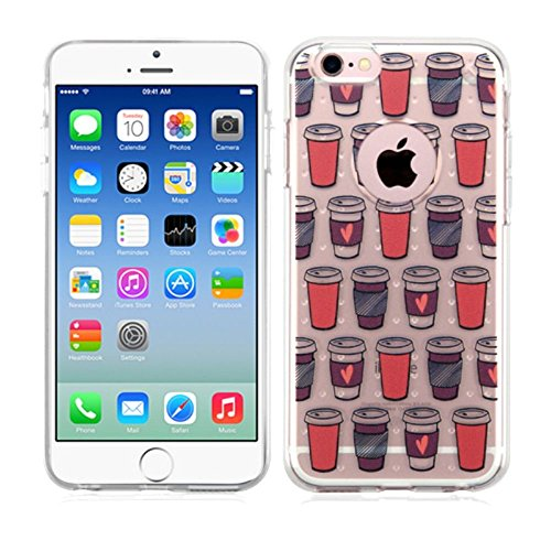 iPhone 6/6s Case, Mybat Give Me Coffee TPU Rubber Candy Skin Case Cover for Apple iPhone 6/6s, Rose Gold
