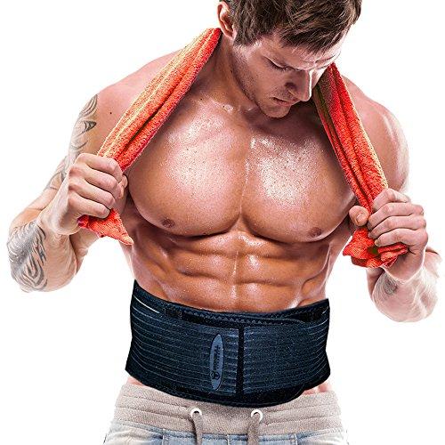 Iron Bull Strength Der Shred Belt- Taillen-Trimmer-Gurt, Bauch Fettverbrenner, Muskelaufbau Gürtel, Spot-Reduktion Gürtel, Taille schlanker, Fett Reduzierer (Large - Fits 36in to 45in Waists)