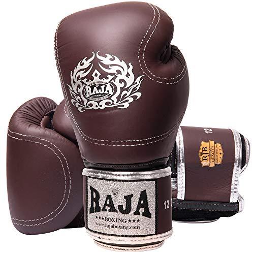 RAJA Boxhandschuhe, RJB-P2, Leder, Chocolate Größe 16 Oz