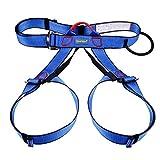 TRIWONDER Arnés de Escalada Proteger Cinturones de Seguridad Arneses de Medio Cuerpo para Escalada de Rock Montañismo Alpinismo Expedición (Azul)