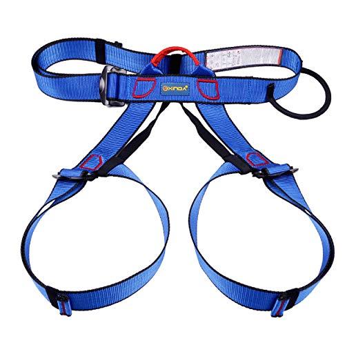 TRIWONDER Imbracatura da Arrampicata, Cintura di Sicurezza Imbrago Utilizzabile per Arrampicata Ferrata Alpinismo Lavori ad Altezza (Blu)