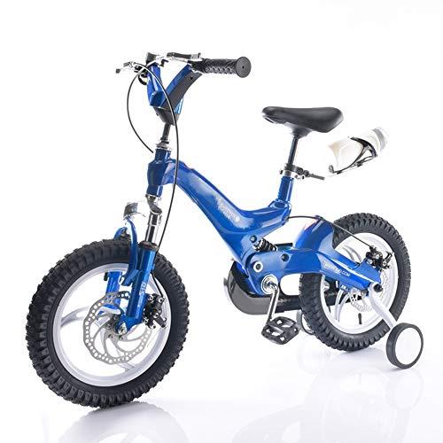 Kinderfahrräder HAIZHEN Kinderwagen Freestyle 14,16 Zoll Laufräder mit Laufrad für Jungen Mädchen, 4 Farben erhältlich Für Neugeborene (Farbe : Blau, größe : 14 inch)