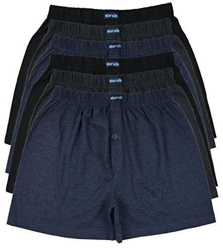 MioRalini TOPANGEBOT Boxershorts farbig weich & locker in neutralen Farben klassischen Unifarben Herren Boxershort, 6 Stück, M-5