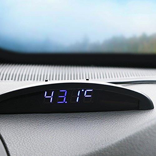 Folconroads DOEU-TQ0055 Elektronische Uhr, ultradünn, für das Auto