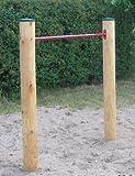 Loggyland Reckanlage, Turnreck, Reck, Metallreck, Kinderreckanlage (Lärche rund 90 cm, rot)