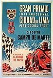 Grand Premio Lima Peru 1959 Poster, Format 50 x 70 cm,