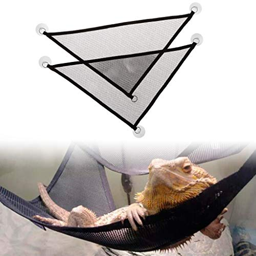 Yanhonin 2pcs Reptiles Hamaca, Reptil Lagarto Swing triángulo Alfombra Amphibien Juguete, con Las ventosas