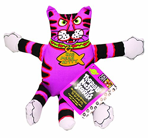 Fat Cat Multicolored Assorted Styles Canvas Squeak Dog Toy Small