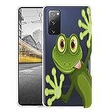 KX-Mobile Hülle für Samsung S20 FE Handyhülle Motiv 2167 Frosch Premium Silikonhülle durchsichtig mit Bild SchutzHülle Softcase HandyCover Handyhülle für Samsung Galaxy S20 FE Hülle