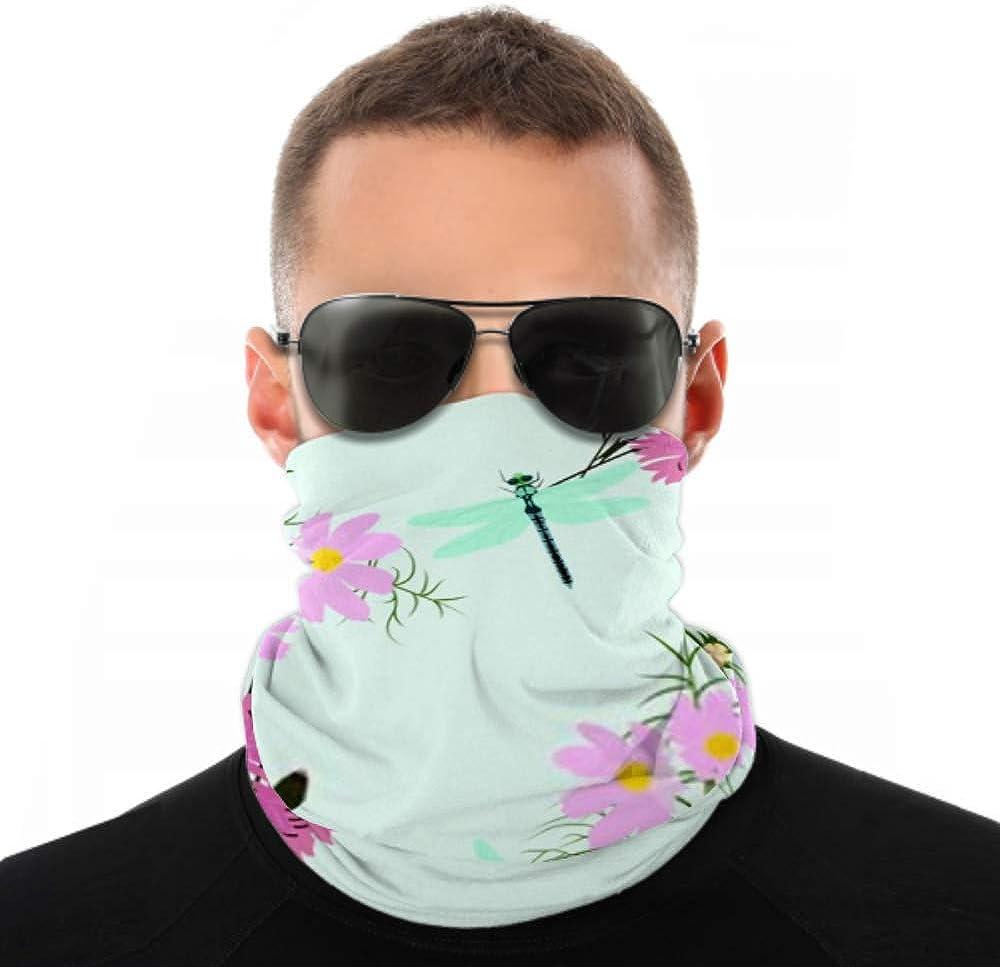 Headbands For Men Women Neck Gaiter, Face Mask, Headband, Scarf Seamless Vector Illustration Wildflowers Cornflowers Cosmees Turban Multi Scarf Double Sided Print Headband Wrap For Sport Outdoor