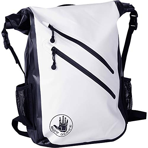 Body Glove Seaside Waterproof Floatable Backpack-White, One Size