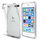 KELIFANG Case Compatible with iPod Touch 7, 6 and 5, Ultra Slim Full Body Protective Case Shockproof Soft TPU Bumper Non-Slip Thin Clear Cover Compatible with 7th/6th/5th Generation, Clear