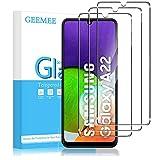 GEEMEE Para Samsung A22 4G (6,4') Protector de Pantalla,3 Pack Cristal Templado Película Vidrio Templado 9H Alta Definicion Glass Screen Protector Film (Transparente)