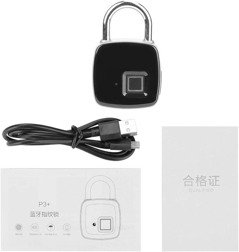 Keyless Luxury goods Padlock Aluminum Alloy Material Smart Lock W Free Shipping New Fingerprint