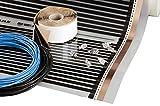 Infrarossi Pellicola (foglio) 12m², 2640W, 220W/m², 230V, Larghezza 100cm, Riscaldante per Riscaldamento Elettrico a Pavimento (sotto Laminato e Parquet multistrato), heating film