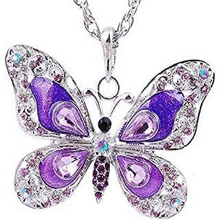 Colgante mariposa con esmalte y cristales de joyería Ideas del regalo de la madre de la novia Día