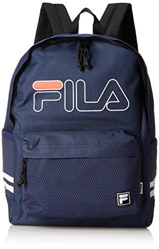 [フィラ] リュック メンズ レディース リュックサック 大容量 カジュアル ブランド 20l a4サイズ 通学 通勤 旅行バッグ 軽量 ロゴ メッシュポケット FM2009 ネイビー F