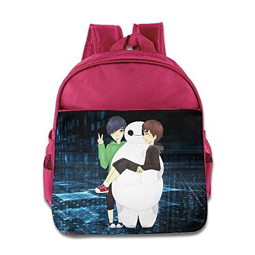NUBIA Dan Baymax Phil Baby Boys Girls Preshool Carry Bag Pink