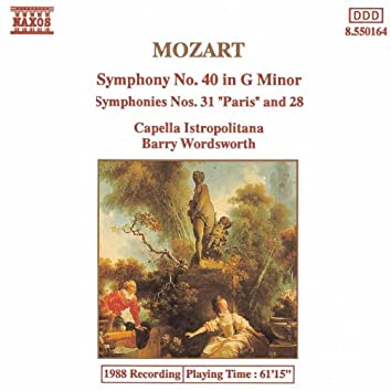 MOZART: Symphonies Nos. 40, 28 and 31