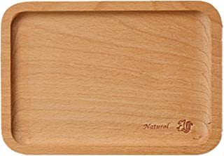 B&S FEEL Small Rectangle Wooden Tea Serving Tray Dessert Tray, 7.28-inch by 5.12-inch