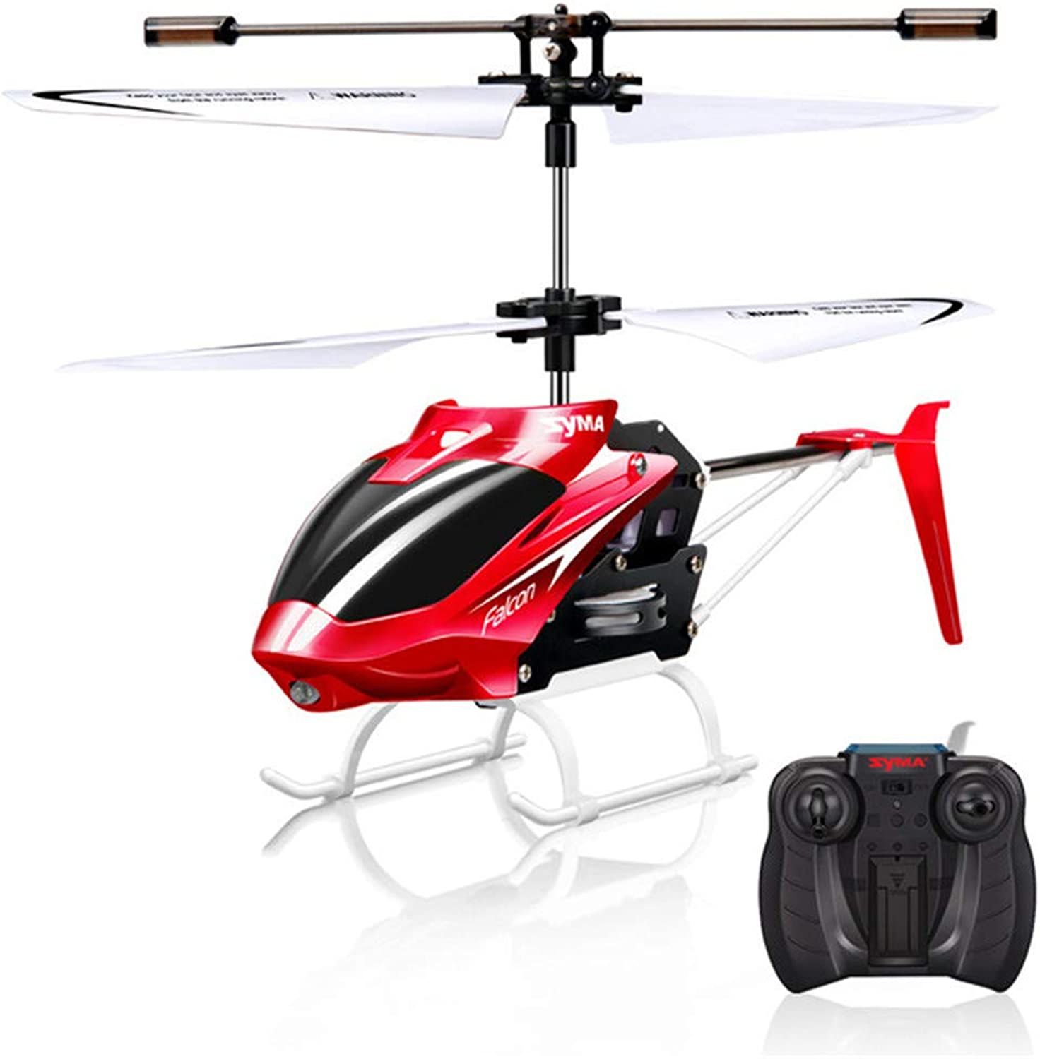 RC Helicopter 2 CH 2 Channel Mini RC Drone with Gyro Crash Resistant RC Toys for Boy Kids Gift Red Yellow,Red