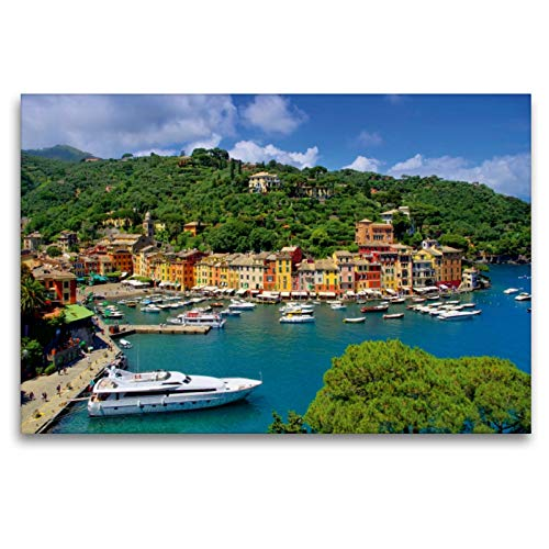 CALVENDO Premium Textil-Leinwand 120 x 80 cm Quer-Format Portofino, Leinwanddruck von Thomas Polske