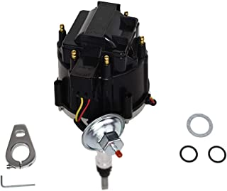 A-Team Performance HEI Complete Distributor 65K Coil Straight 6 41-62 194 216 235 68-87 Compatible with Early Chevrolet Toyota Land Cruiser FJ40 FJ60 2F 3F One Wire Installation Black Cap