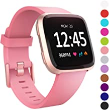 Humenn Bands Compatible with Fitbit Versa/Versa 2/Versa Lite/SE, Silicone Adjustable Replacement Classic Accessory Wristband Fitness Straps for Women Men