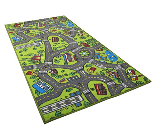 Kids Carpet Playmat Rug City Life Great for Playing with Cars and Toys - Play  Learn and Have Fun Safely - Kids Baby  Children Educational Road Traffic Play Mat  for Bedroom Play Room Game Safe Area