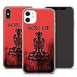 Handyhülle Valhalla für iPhone Apple Silikon Odin Thor Viking Wikinger Gothic, Kompatibel mit Handy:Apple iPhone 8, Hüllendesign:Design 1   Silikon Klar