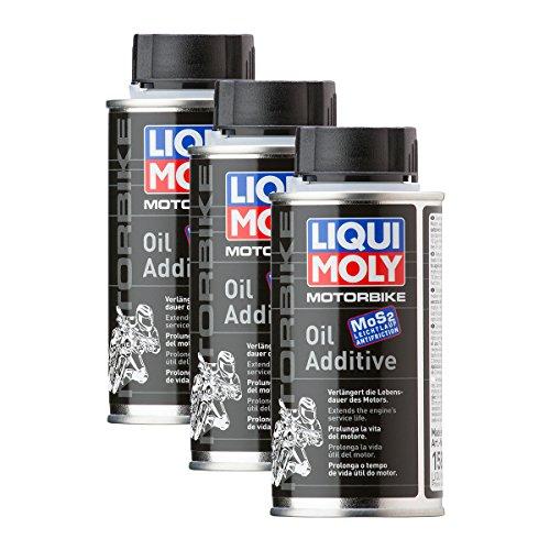 Aditivo para aceite Liqui Moly, 3unidades, 1580,para moto, MoS2, protección contra eldesgaste, 125ml