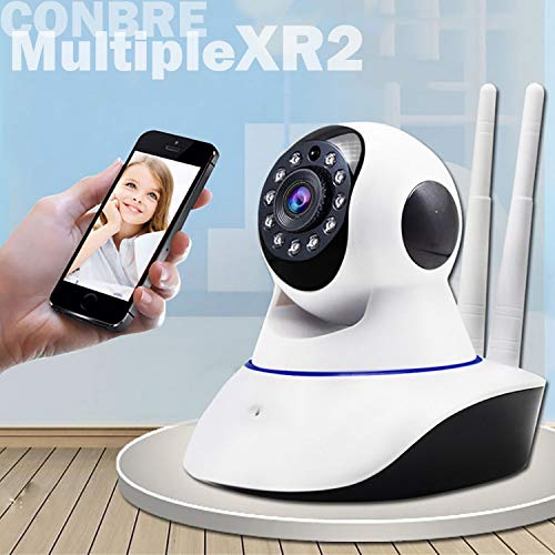 Conbre MultipleXR2 V380 Pro Home and Office Ultra HD 720P IP CCTV Smart Security Camera with WiFi Wireless Connectivity, 2...