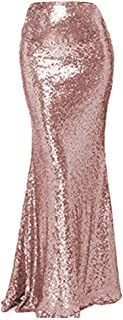 Women's Sequin Party Skirt Maxi Dress for Prom Cocktail Evening Gownasual Dresskirt